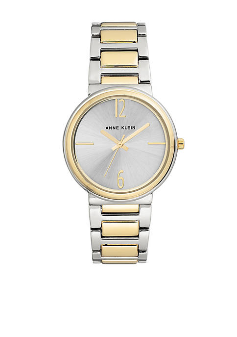 Anne Klein Two-Tone Bracelet Link Watch