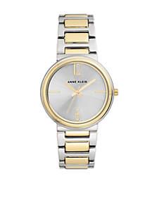 Two-Tone Bracelet Link Watch