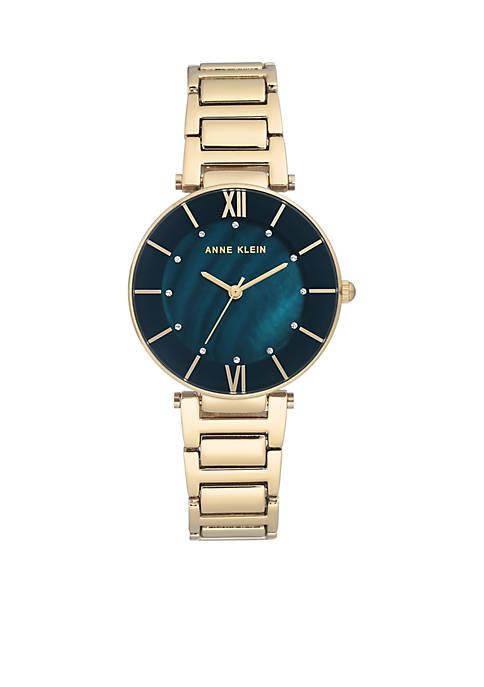Anne Klein Gold-Tone Bracelet Watch