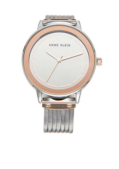 Anne Klein Tri-Tone Bracelet Watch