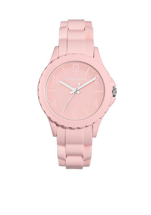 Anne Klein Silicone Bracelet Watch