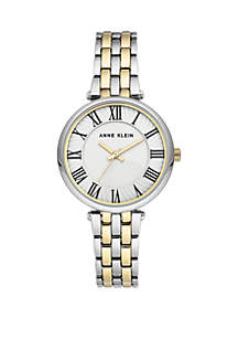 2-Tone Bracelet With White Dial Watch