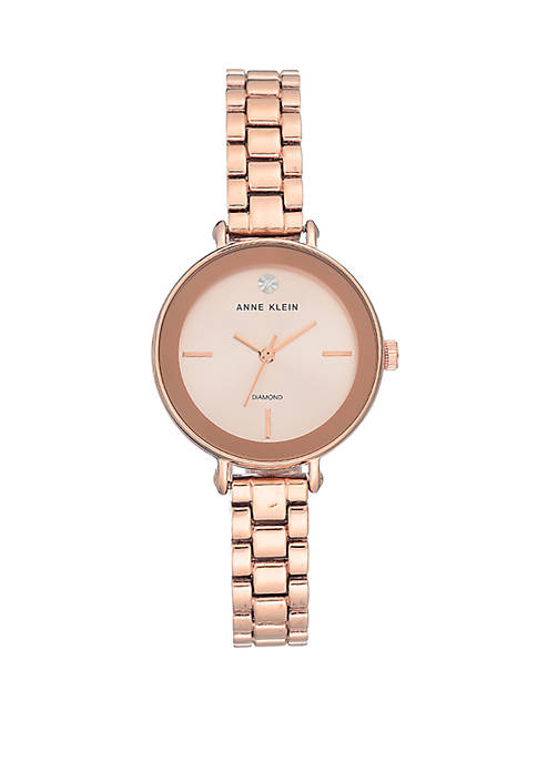 Anne Klein Rose Gold Tone Bracelet Watch