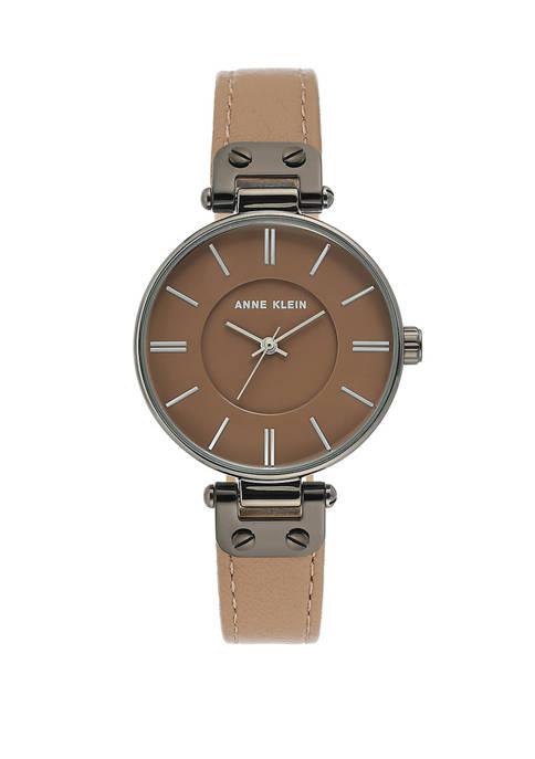 Mocha Leather Strap Watch