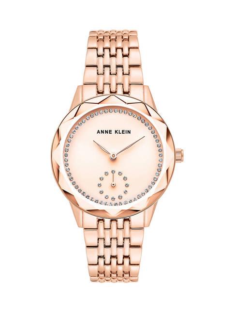 Anne Klein Rose Gold Bracelet Watch with Rose