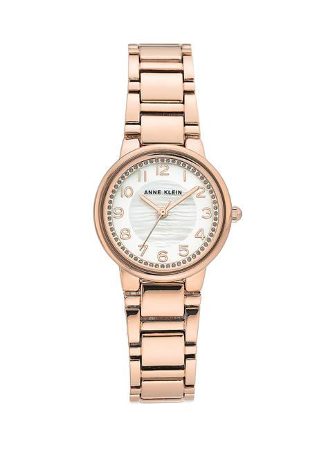 Anne Klein Rose Gold Tone Easy Read Bracelet