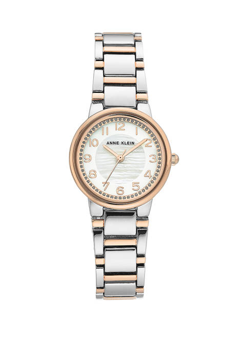 Anne Klein Rose Gold Two Tone Metal Easy