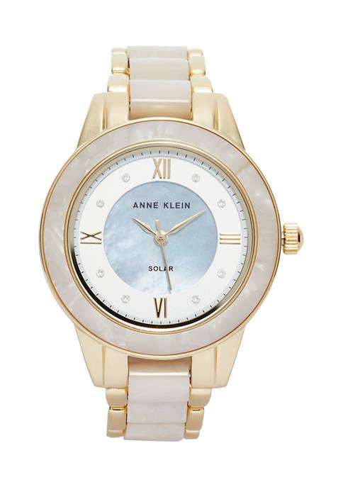 Womens Solar Ivory Acetate Watch