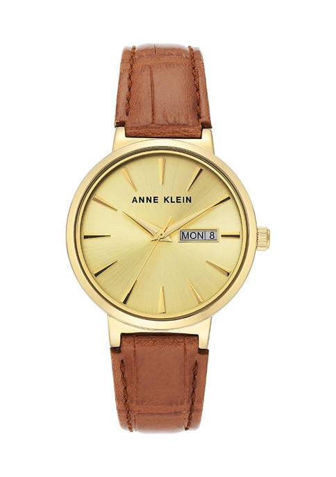 Anne Klein Honey Leather Analog Watch