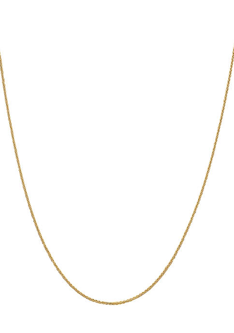 Gold-Plated Spiga Chain Necklace