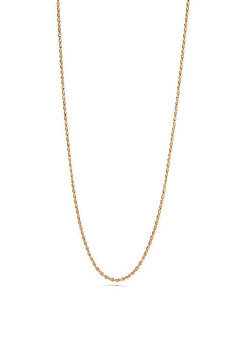 24K Gold Over Sterling Silver Chain Necklace