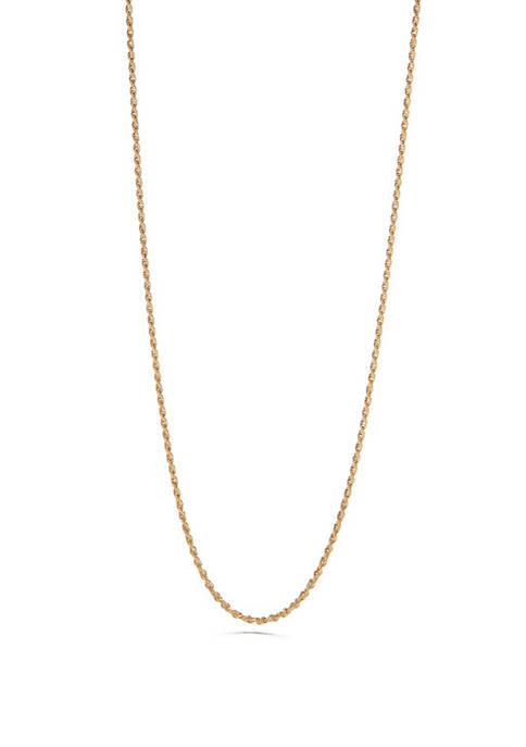 Belk Silverworks 24K Gold Over Sterling Silver Chain