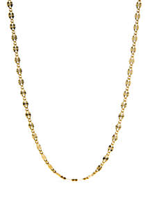 24k Gold Over Sterling Silver Oval Disc Necklace