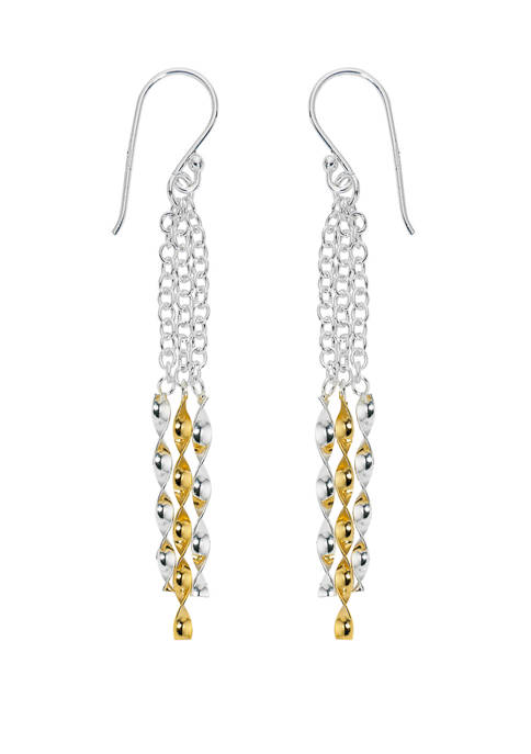60 Millimeter Twisted Stick Earrings