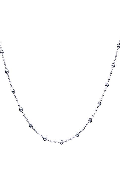 Belk Silverworks Beaded Station Necklace