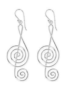 Belk Silverworks Musical Note Drop Earrings