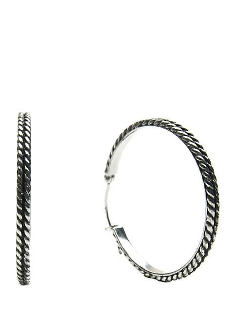 Belk Silverworks Silver Tone Ox Designed Textured Click