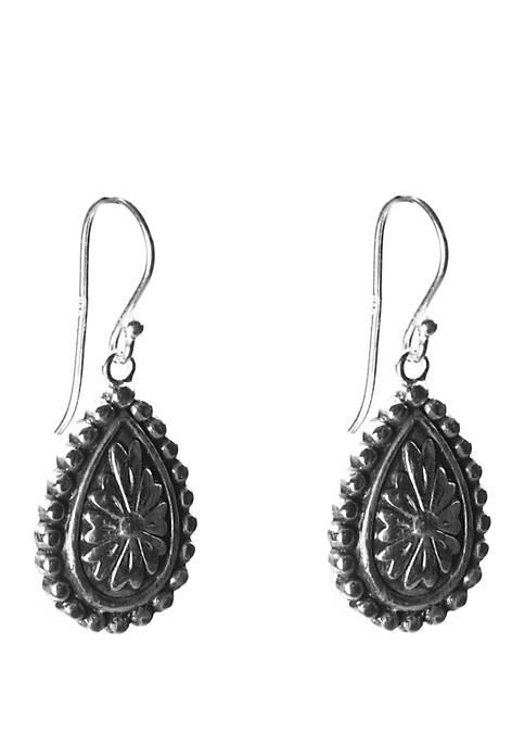 Belk Silverworks Silver Tone Ox Oval Design Drop