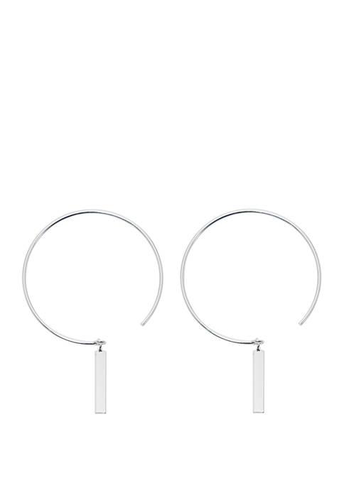 Belk Silverworks Endless Hoop Earrings