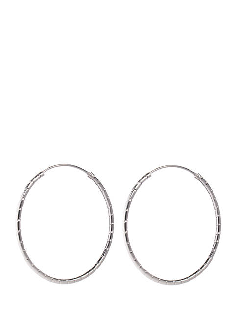 Belk Silverworks Endless 45 Millimeter Hoop Earrings