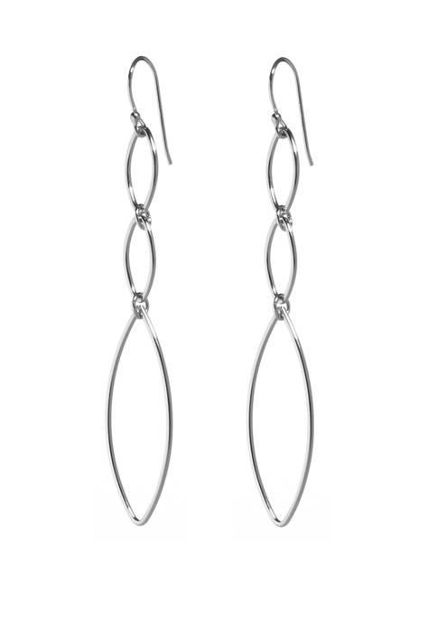 Belk Silverworks Fish Hook Multi Link Drop Earrings