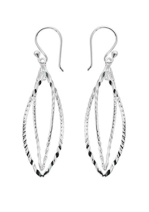 Belk Silverworks Pure 100 Double Pointy Drop Earrings