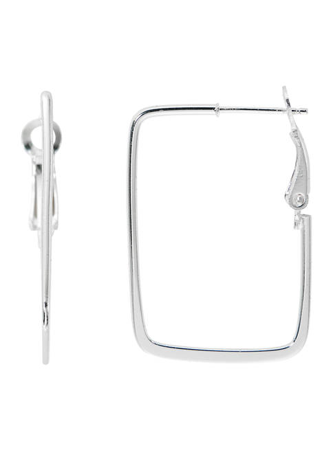 Belk Silverworks Pure 100 Square Hoop Earrings