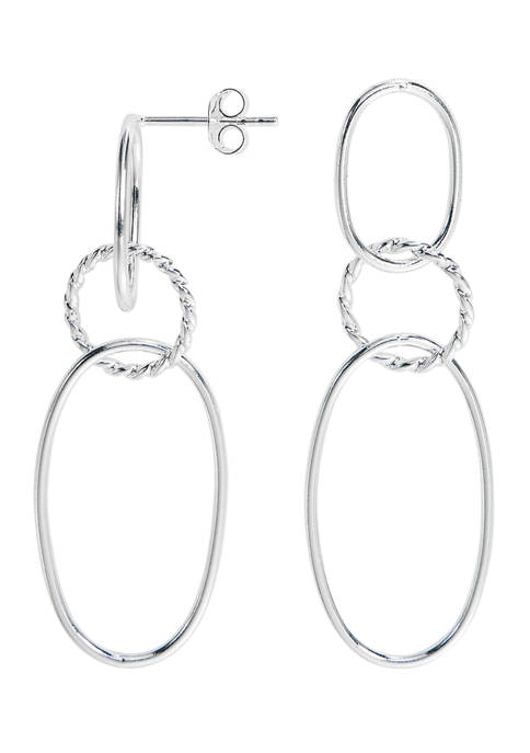 Belk Silverworks Pure 100 Front Facing Drop Earrings