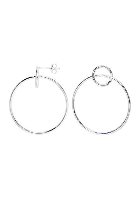 Belk Silverworks Large and Small Round Hoop Earrings