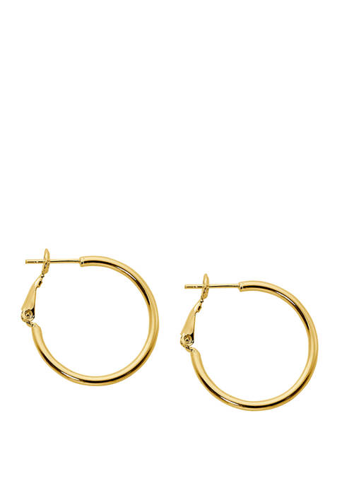 Belk Silverworks Gold Plated Hoop Earrings