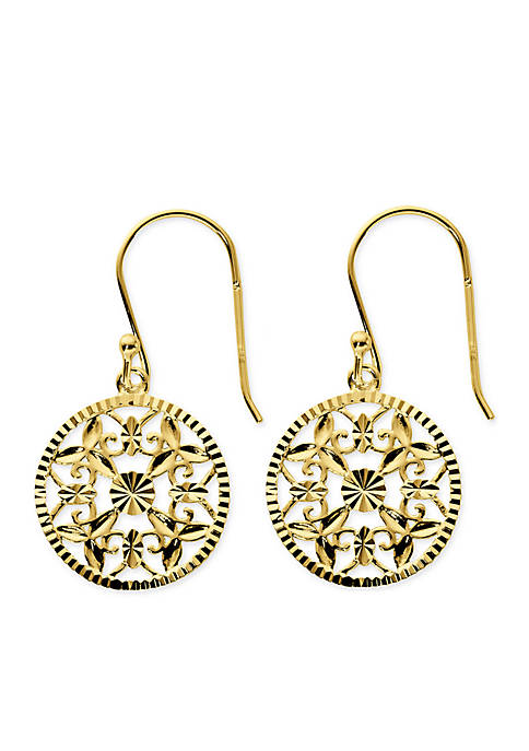 Belk Silverworks Gold-Tone Pure 100 Diamond Cut Filigree