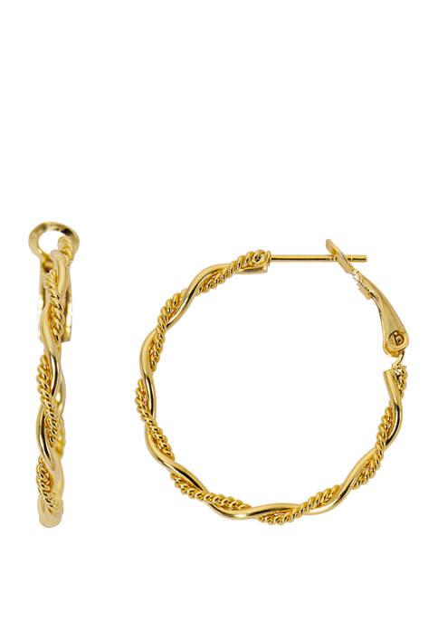 Belk Silverworks Gold Tone Wrapped Clutchless Earrings