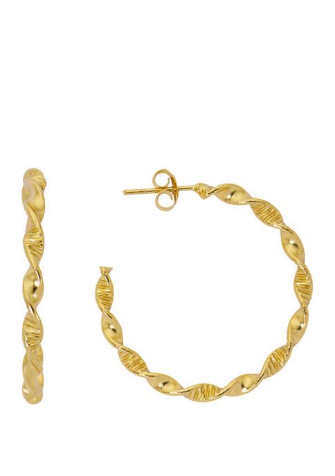 Belk Silverworks Gold Tone Twisted Earrings