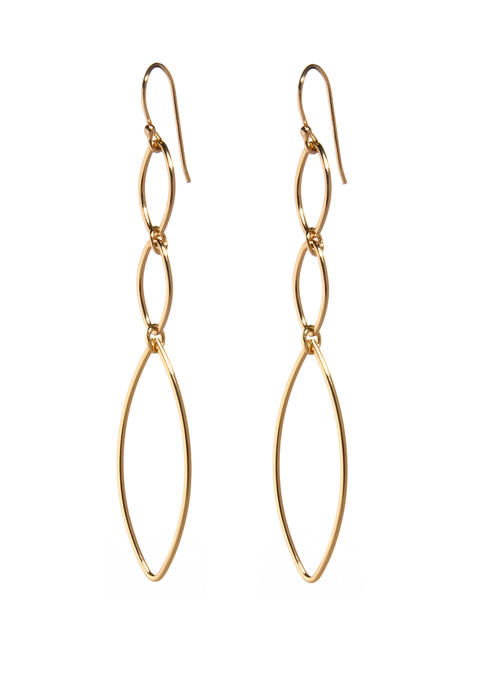 Belk Silverworks Multi Link Drop Earrings