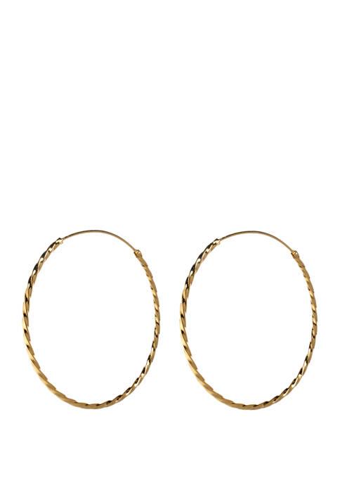 Belk Silverworks Endless Twist Hoop Earrings