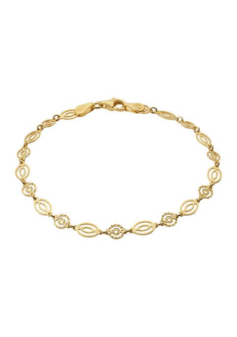 Belk Silverworks Gold Tone Pierced Oval Bracelet