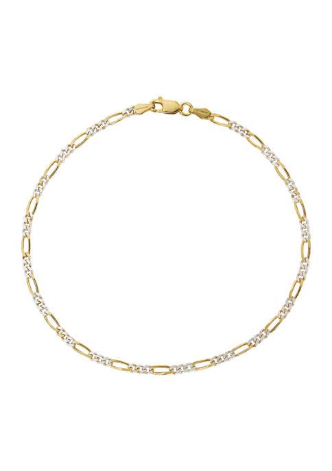 Belk Silverworks Two Tone Chain Bracelet