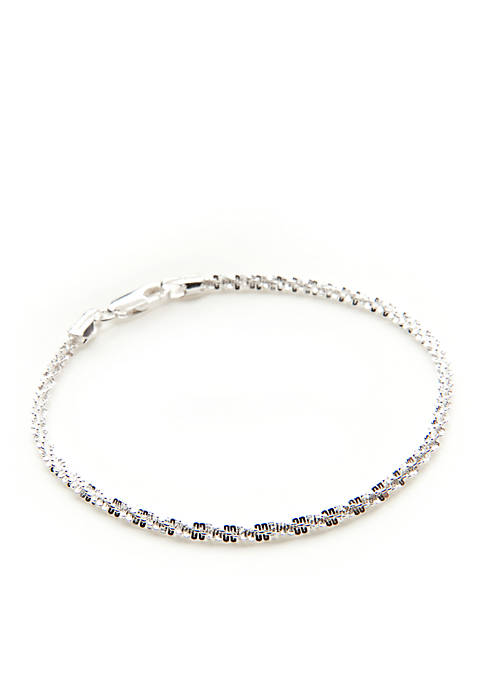Silver 100 Fancy Rolo Chain Bracelet