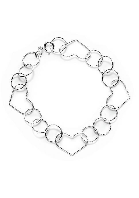 Pure 100 Link Open Heart Bracelet