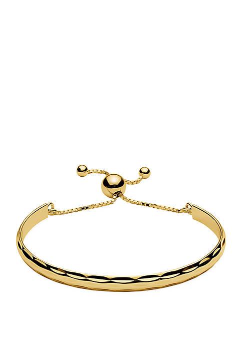 Textured Band Bolo Bracelet