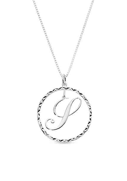 Personalized jewelry belk belk silverworks silver tone pure 100 drop initial s pendant necklace aloadofball Choice Image