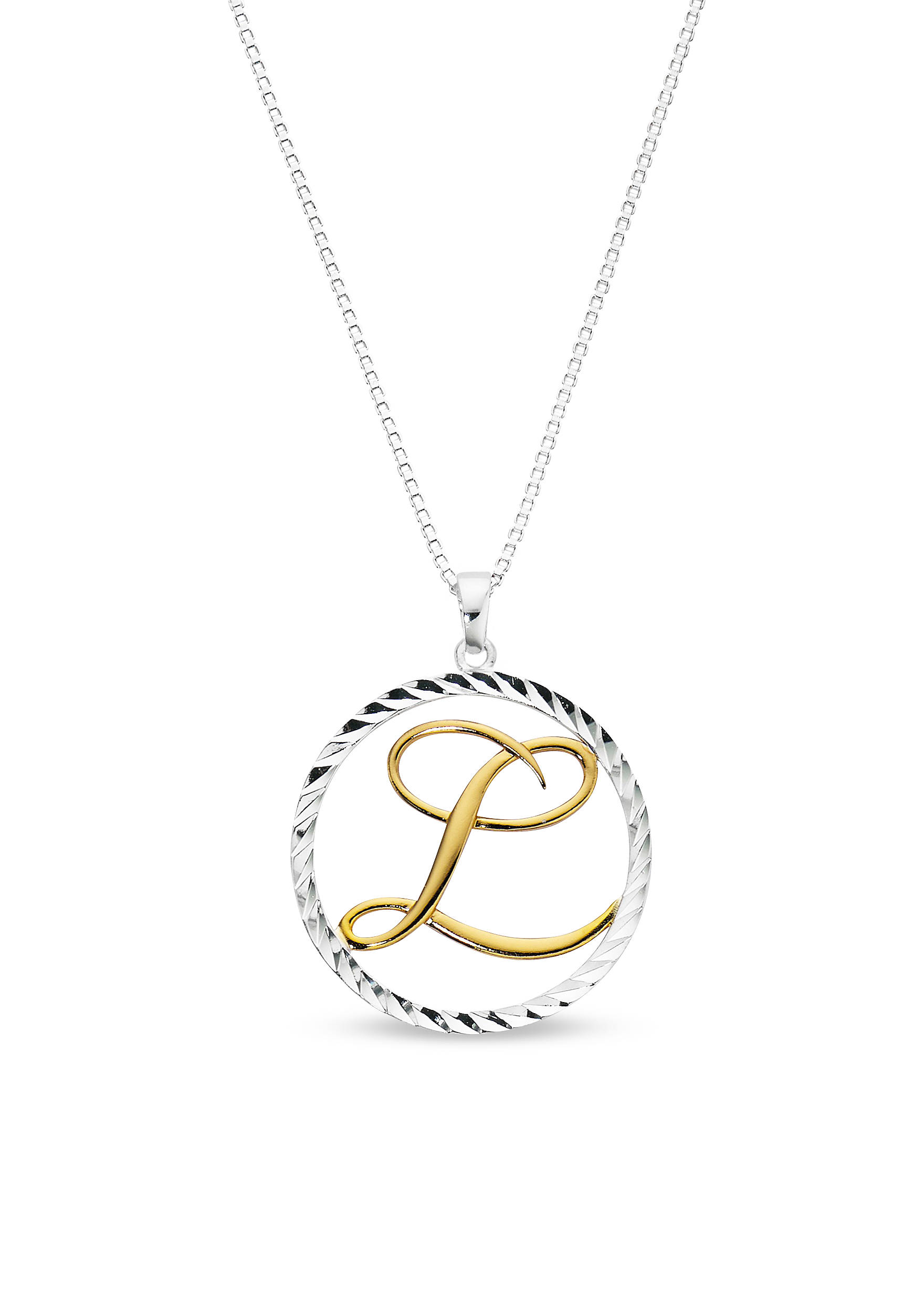 Belk silverworks two tone pure 100 initial l pendant necklace belk back to necklaces belk silverworks two tone pure 100 initial l pendant necklace aloadofball Gallery