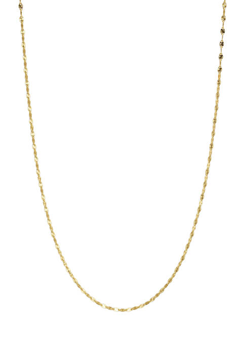 Belk Silverworks Gold Over Sterling Silver Disco Chain