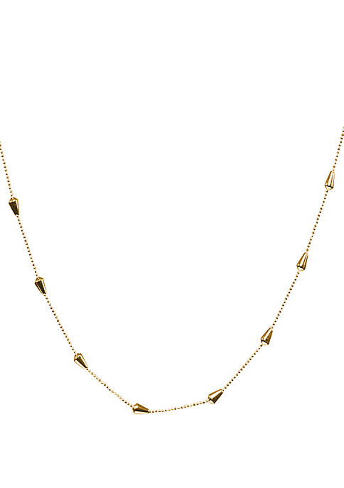 Belk Silverworks 1 mm Beaded Cone Necklace