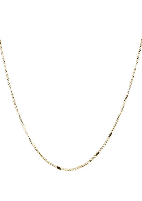 Belk Silverworks Gold Tone 2 mm Rolo Necklace