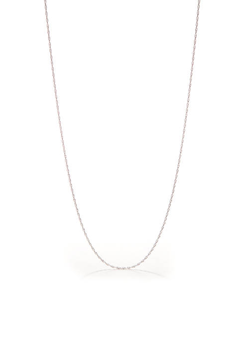 Belk Silverworks Pure 100 Singapore Chain Necklace