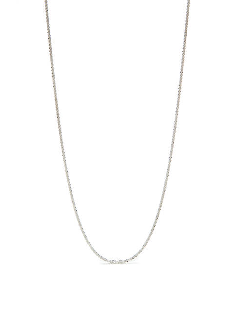 Belk Silverworks Silver-Tone Fancy Rolo Chain Necklace