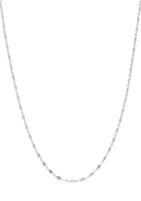 Belk Silverworks Silver Tone Snowflake Chain Necklace
