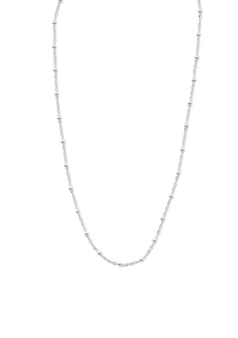 Belk Silverworks Silver-Tone Pure 100 Twisted Singapore Chain