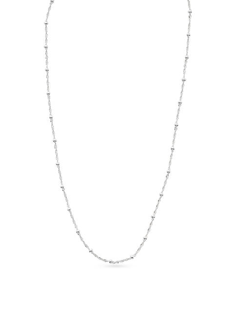 Belk Silverworks Silver-Tone Beaded Station Chain Necklace